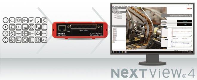 Ethernet Messsystem LAN-AD16fx mit Software NextView