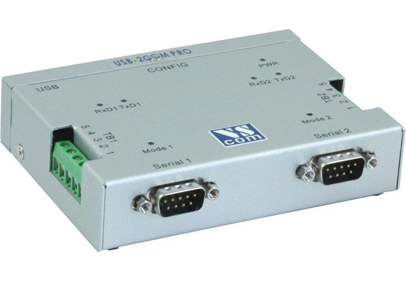 USB-2COM-PRO - USB zu 2x RS232, RS422, RS485