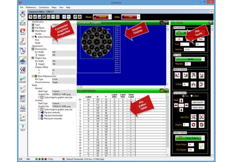 cami-707 CableEye Connector Design Software