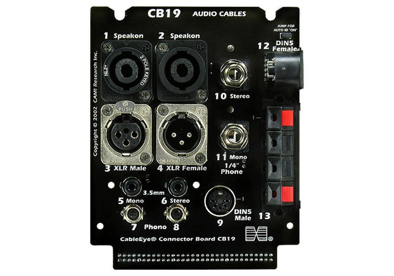 cami-749 CableEye Adapter Audio XLR, Cinch, Klinke, MIDI