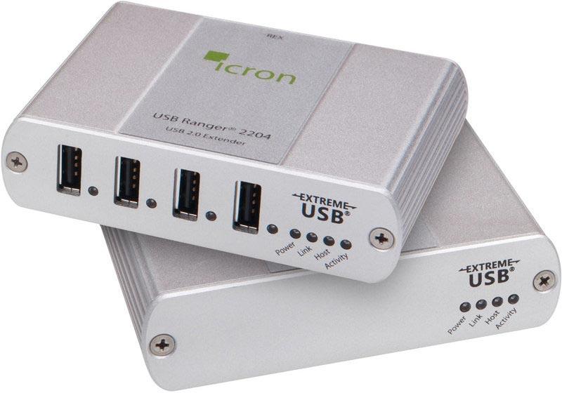 Icron Ranger 2204 - USB 2.0 Extender, 100 m Cat5e, 4-Port Hub