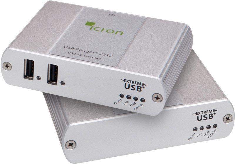 Icron Ranger 2212 - USB 2.0 Extender , 100 m Cat5e, 2-Port Hub