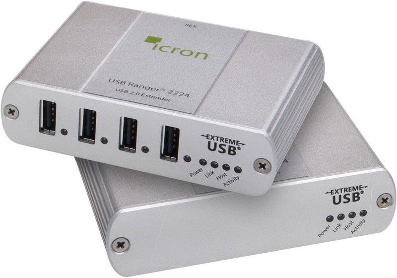 Icron Ranger 2224 - USB 2.0 Extender, 500 m Multimode-LWL, 4-Port Hub