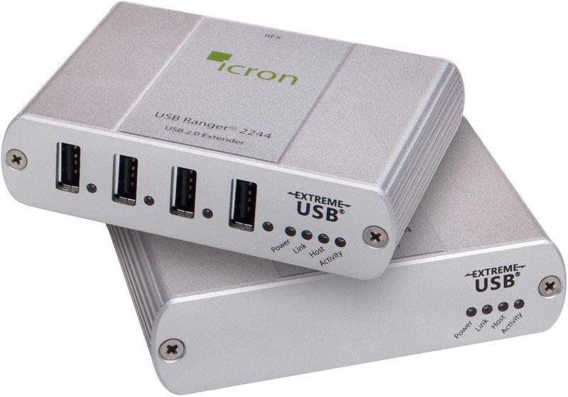 Icron Ranger 2244 - USB 2.0 Extender, 10 km Singlemode-LWL, 4-Port Hub