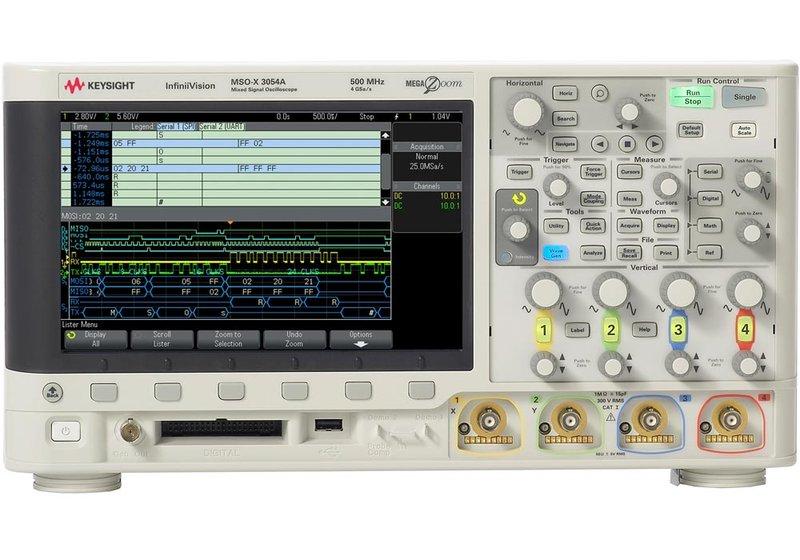 Keysight InfiniiVision MSOX3000A 2-/4-Kanal Mixed-Signal Oszilloskope bis 1GHz