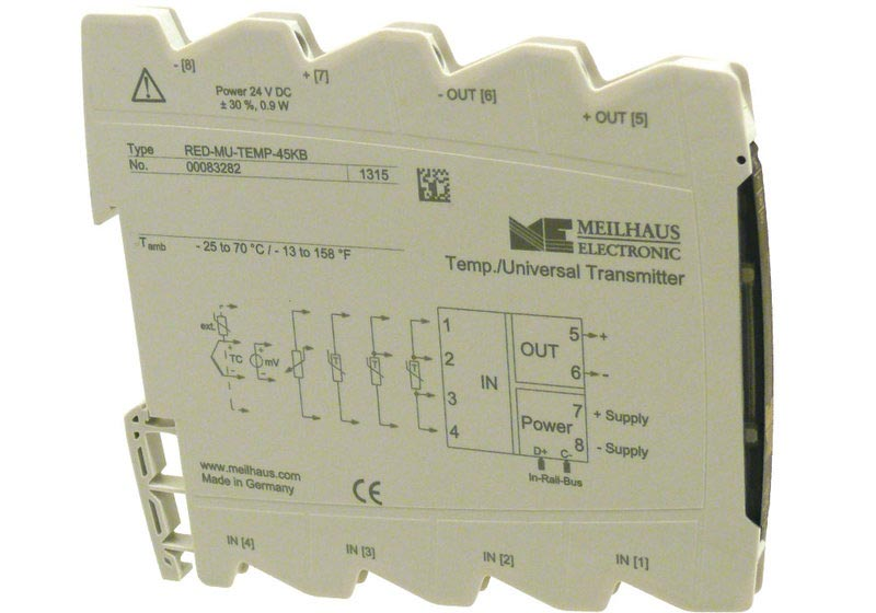 Red-MU-TEMP-45KB programmierbarer Temperatur-Messumformer