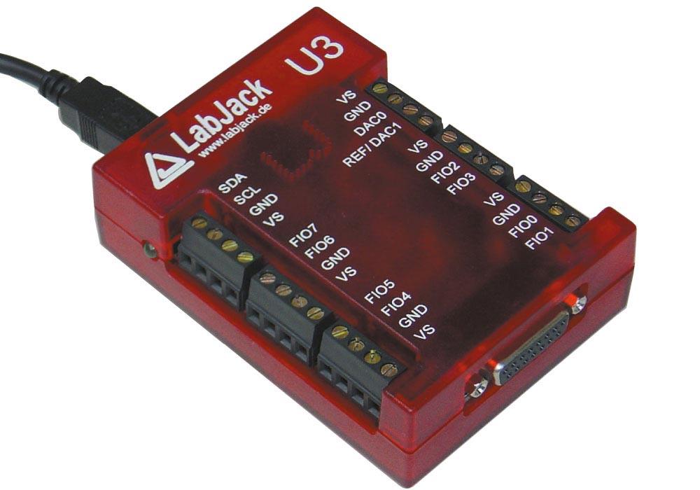 LabJack U3 (LV, HV) USB-Mini-Messlabor, Mini-Messsystem