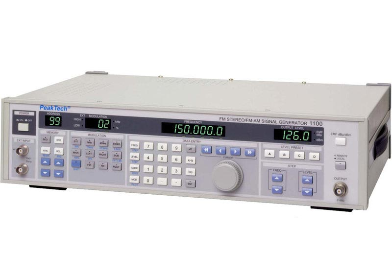 Peaktech P1100 HF-Signalquelle, AM, FM, 100 kHz...150 MHz