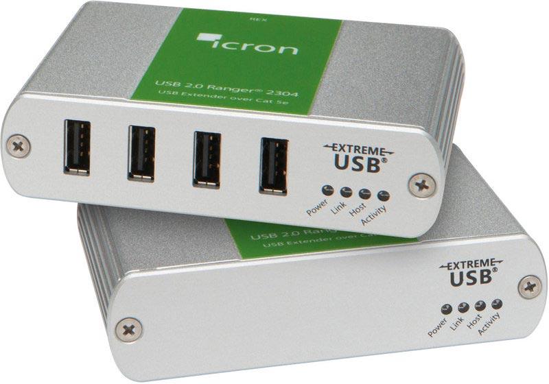 Icron Ranger 2304 - USB 2.0 Extender, 100 m Cat5e, 4-Port Hub
