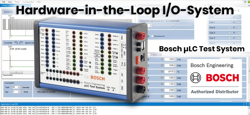 Bosch µLC Test System HiL-/Hardware-in-the-Loop-I/O