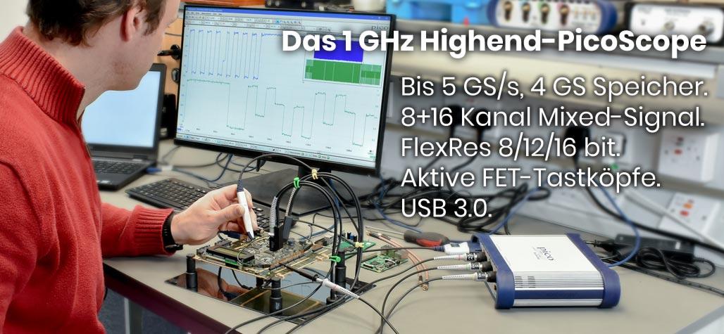 PicoScope4000 hochauflösende 2/4/8-Kanal USB PC-Oszilloskope
