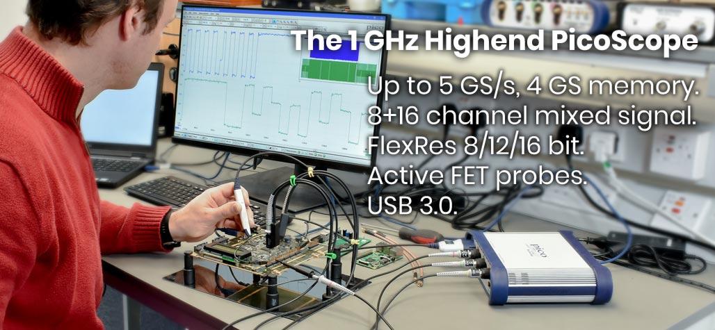 PicoScope4000 high resolution 2/4/8 channel USB PC oscilloscopes