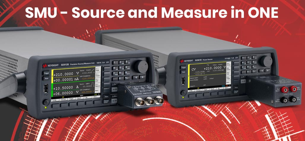 Keysight SMU2900B/BL source and measurement device in one