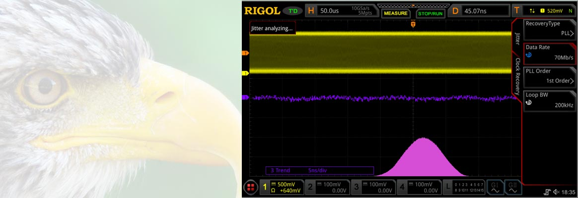 Rigol MSO8000 dynamische Clock-Recovery