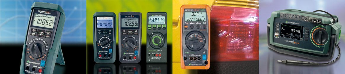 Gossen Metrawatt handhelds and testers