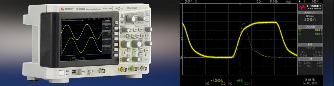 Keysight InfiniiVision1000 lowcost high quality oscilloscopes
