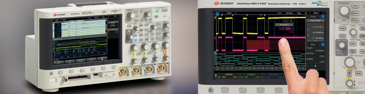 Keysight InfiniiVision 3000 high quality oscilloscopes